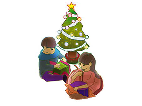 Children who can open gifts