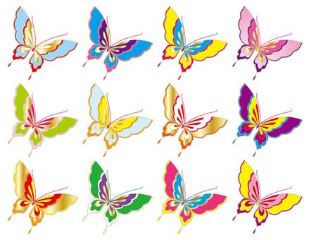 Kimono pattern _ embroidery wind ~ butterfly 01
