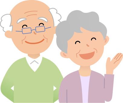 81112. Senior couple 1