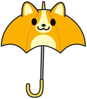 강아지 우산 코기