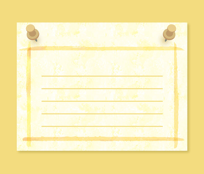 Notebook stationery simple illustration yellow handwritten wire