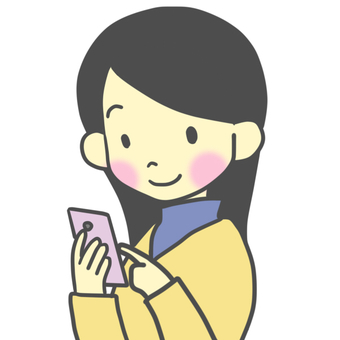 스마트 폰을 조작하는 여성