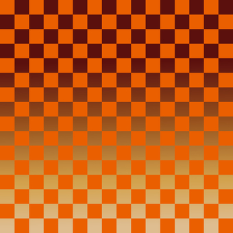 Japanese Pattern Background material Checkered pattern Orange Gold