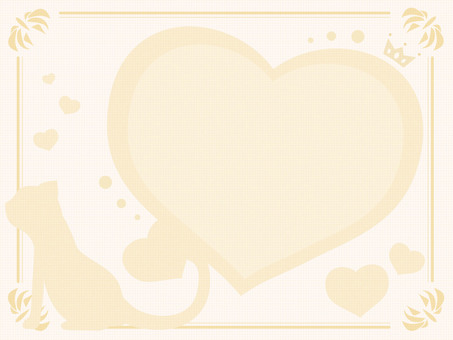 Heart and cat (gold)