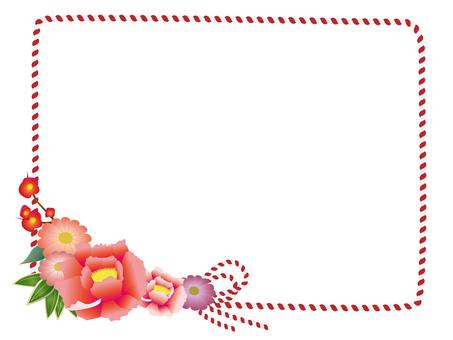 Japanese flower decorative frame 4