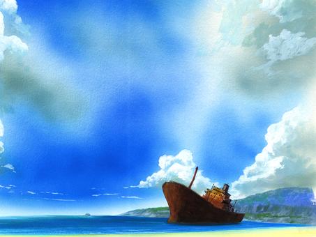 一艘擱淺的船