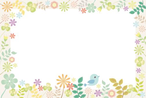 Spring and flower pastel frame