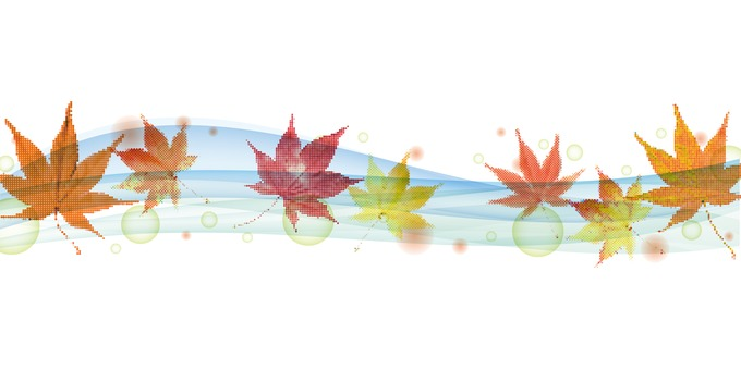 Flowing autumn leaves - light blue