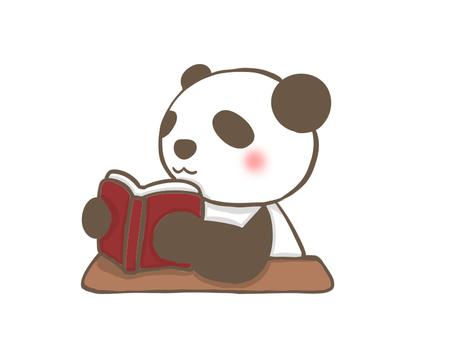 책을 읽는 팬더