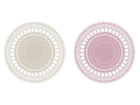 Fashionable lace pattern D