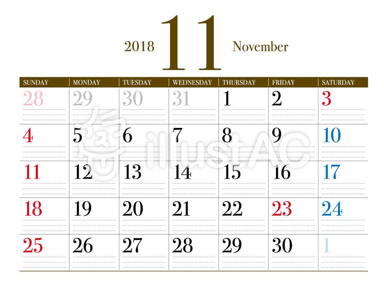 11月カレンダーイラスト No 915314無料イラストならイラストac