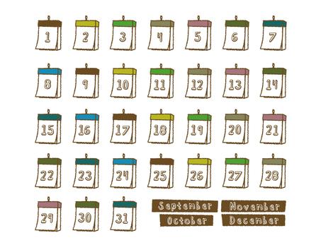 Calendar September - December