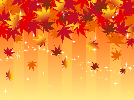 Japanese style material Autumn leaves background