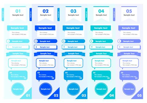 Business template blue
