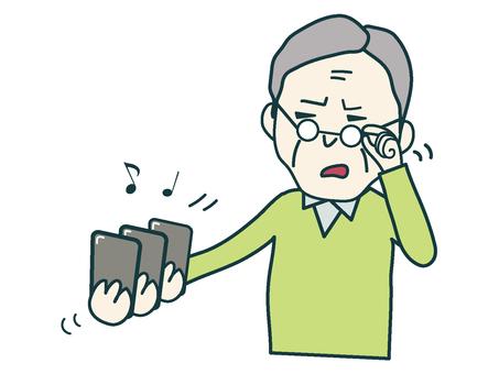 Smartphone and grandpa