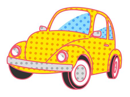 Car _ Retro Pop _ Yellow
