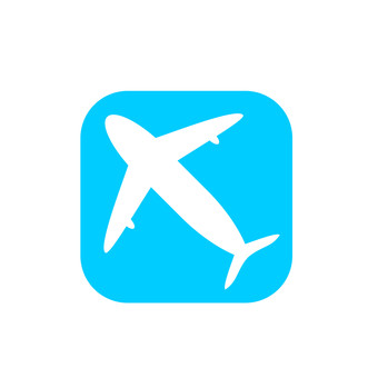 Airplane illustration icon