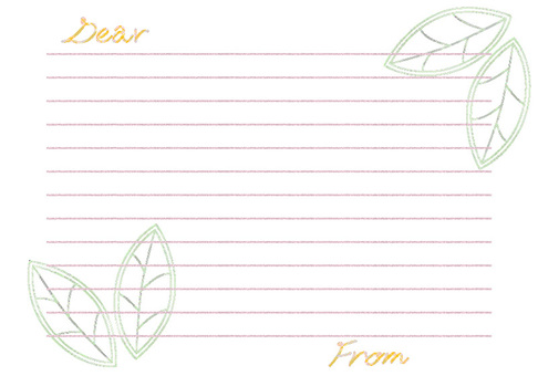 Letter color pencil wind-green