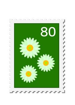 Stamp flowers