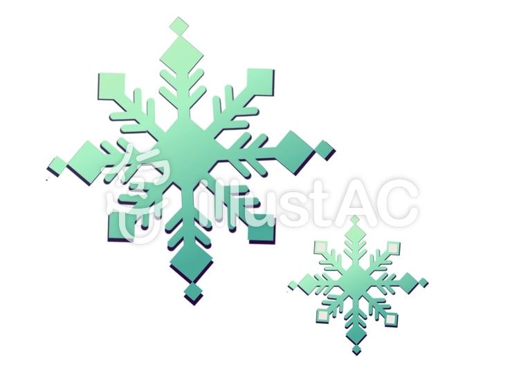 雪の結晶⑥のイラスト
