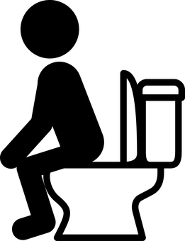 Pictogram for those who add to the toilet