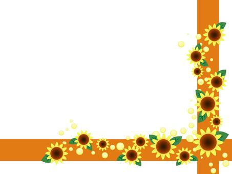 Sunflower and line frame