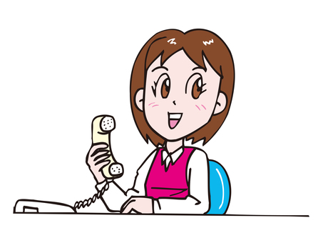 一個女人打電話
