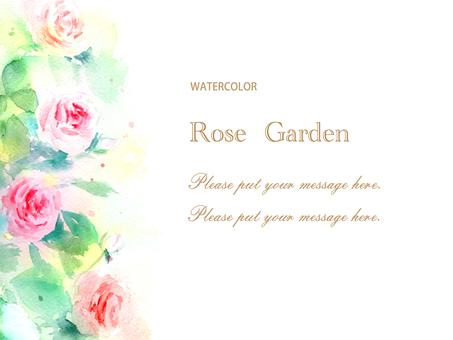 Classic rose garden card