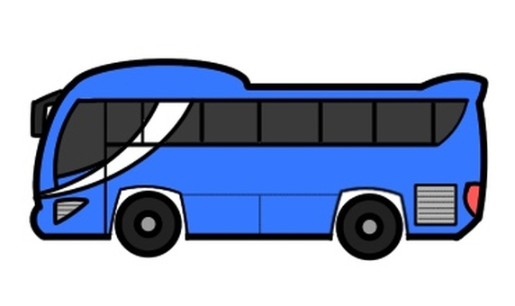 Tourist bus Blue