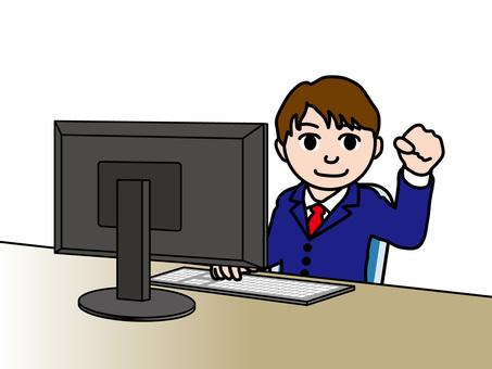 건강 (3) 직장인 남성 컴퓨터