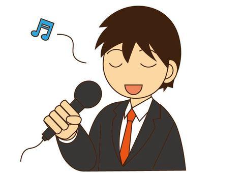 노래방에서 노래하는 남자