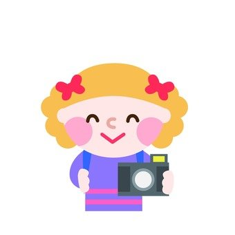 A girl taking a picture