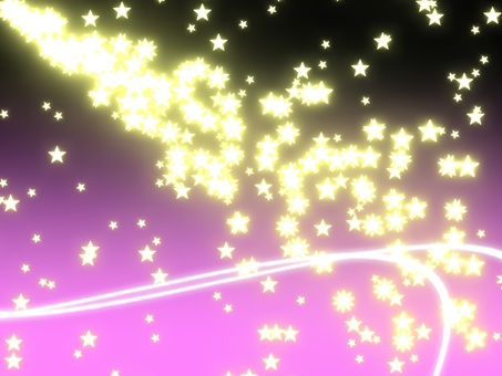 Particle star (background purple)