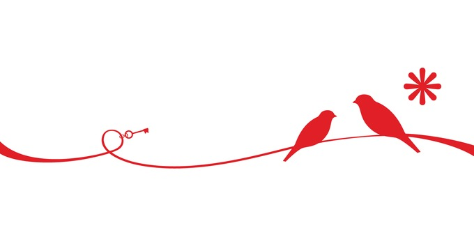Red thread and bird line