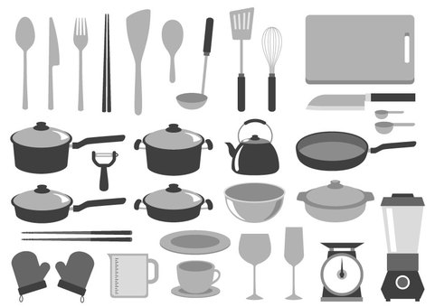Kitchen equipment Monochrome