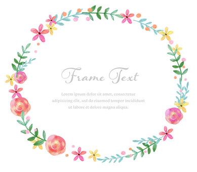 Girly Material 068 Rose Hawaii Frame