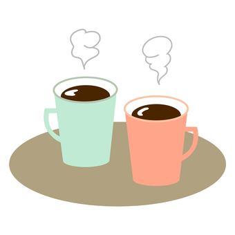 Pair of coffee in mug
