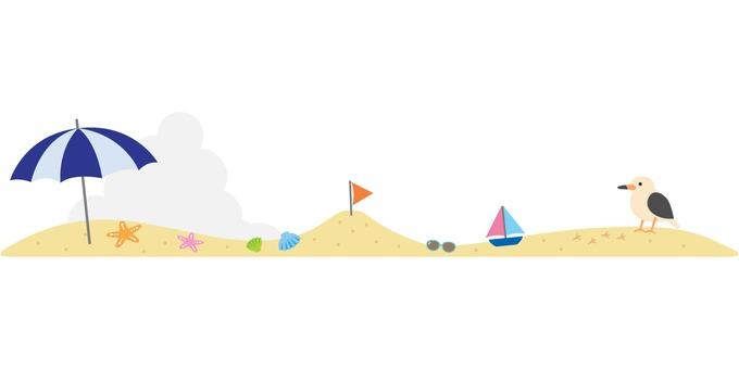 Summer beach line