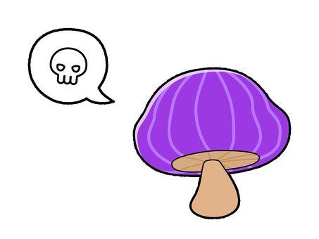 Poison mushroom (with skull mark)