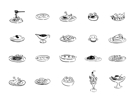 Western style image set (line drawing)