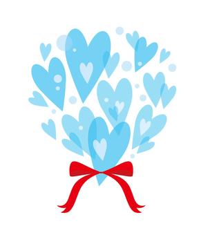 Heart bouquets: Blue