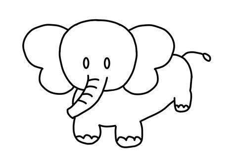 코끼리 색칠 공부
