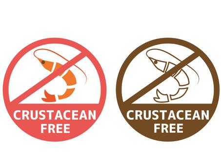 Food allergy label crustacean