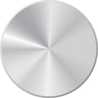 Silver metal wind button