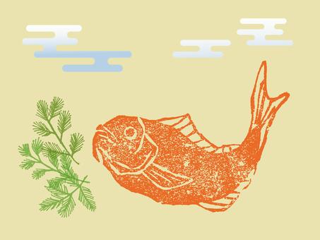 Sea bream with Hanko style