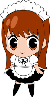 Clerk at a maid cafe