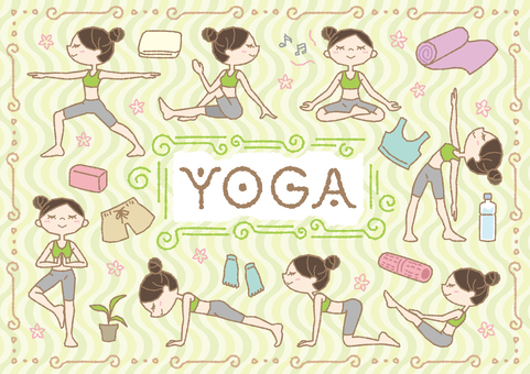 Yoga set for relaxing both mind and body