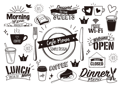 cafe design menu
