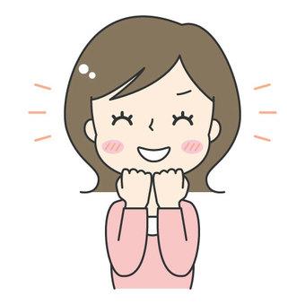 Cute woman / haha / laugh