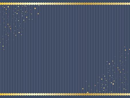 Gold round frame · Navy